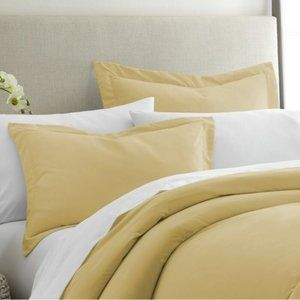 ALCOTT HILL Standard Gold Imogene Premium Sham Set